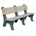 Park Classic Recycled Plastic Bench with Back 6', 85337