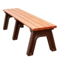 Park Classic Plastic Recycled Backless Bench 6', 85338