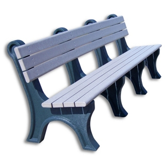 Park Classic Recycled Plastic Bench with Back 8', 85339