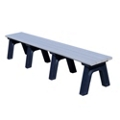 Park Classic Recycled Plastic Flat Bench 8', 85340