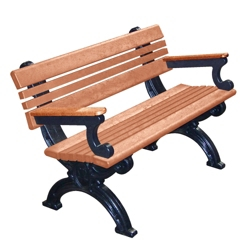 Outdoor Cambridge Bench with Arms 4', 85374