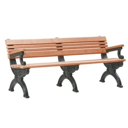 Outdoor Cambridge Bench with Arms 6', 85375