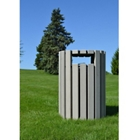 Round Trash Receptacle with Rain Guard 33 Gallon Capacity, 85668