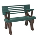 Outdoor Bench with Backrest and Arms - 4 ft, 85831