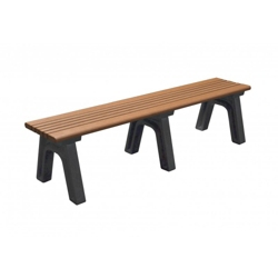 Recycled Plastic Outdoor Flat Bench - 6 Ft Wide, 87774