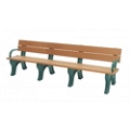 Recycled Plastic Economy Outdoor Bench with Arms - 8 Ft, 87783