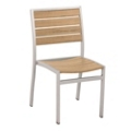 Euro Dining Side Chair with Teak Finish, 85536