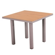"Euro Dining Table with Plastique Teak Top 36"", 85576"