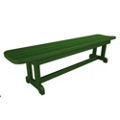 "Park Harvester Backless Bench 72""W, 85676"