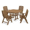 Outdoor Table and Four High Back Chairs, 87905