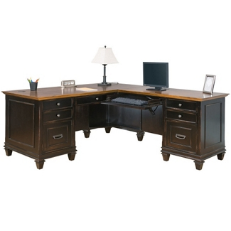 Two-Tone L-Desk with Right Return, 14064