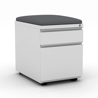 """15""""W  Two Drawer Mobile File Pedestal with Cushion, 34081"""