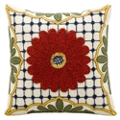 "kathy ireland by Nourison Center Flower Square Pillow -18"" x 18"", 82262"