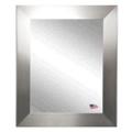 "35.5""H x 32.5""W Round Edge Silver Frame Mirror, 87420"