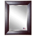 "25.7""H x 21.7""W Leather Frame Beveled Mirror, 87423"