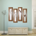 "Set of Four Decorative Wood Frame Mirror Panels - 29.5""H x 15.5""W, 91298"