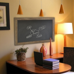 "42""W x 48""H Decorative Wood Framed Blackboard , 80579"