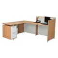 Reception L-Desk with Pedestal, 13340