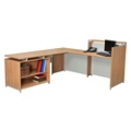 Reception L-Desk with Open Shelf Return, 13342