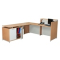 Reception L-Desk with Storage Cabinet, 13343