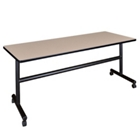 "Mobile Flip Top Training Table - 72""W x 24""D, 41032"