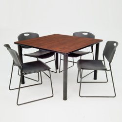 square breakroom table and chair set 36 41684 and more lifetime guarantee. Black Bedroom Furniture Sets. Home Design Ideas