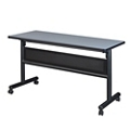 "Merit Flip Top Training Table with Casters and Modesty Panel - 48""W x 24""D, 41814"