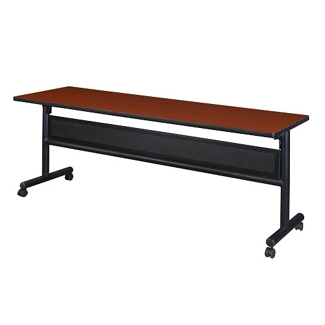 """Merit Flip Top Training Table with Casters and Modesty Panel - 72""""W x 24""""D, 41816"""