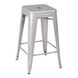 "Counter Height Metal Stacking Stool - 26""H, 57098"