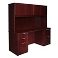 "Solutions Full Pedestal Credenza with Hutch - 71"" x 24"", 13964"