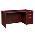 "Solutions Single Right Full Pedestal Desk - 60"" x 30"", 13989"