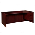 "Solutions Right Pedestal Desk with Three Quarter Pedestal - 48""W, 13998"