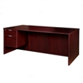"Solutions Left Pedestal Desk with Three Quarter Pedestal - 66""W, 14002"