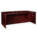 "Solutions Right Pedestal Desk with Three Quarter Pedestal -71""W, 14006"
