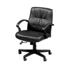 Leather Mid-Back Chair, 50781