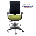 Tempur-Pedic® by raynor group companies Fabric Task Stool, 56078