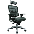 High Mesh Back Leather Seat Executive Chair with Headrest, 55048