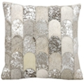 "kathy ireland by Nourison Metallic Hide Square Pillow - 20"" x 20"", 82267"
