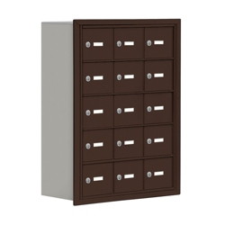 """24""""W x 31""""H 15 Compartment Cell Phone Locker with Key Lock, 31058"""