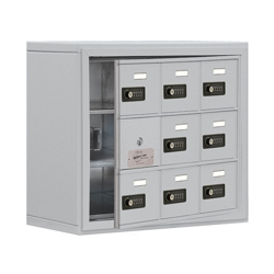 """24""""W x 20""""H 8 Door Cell Phone Locker with Combo Lock and Access Panel, 36464"""