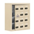"24""W x 25.5""H 11 Door Cell Phone Locker with Combo Lock and Access Panel, 36468"