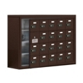 """37""""W x 25.5""""H 19 Door Cell Phone Locker with Combo Lock and Access Panel, 36470"""