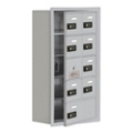 """17.5""""W x 31""""H 8 Door Cell Phone Locker with Combo Lock and Access Panel, 36471"""