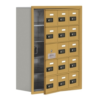 """24""""W x 31""""H 14 Door Cell Phone Locker with Combo Lock and Access Panel, 36473"""