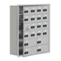 """30.5""""W x 36.5""""H 19 Door Cell Phone Locker with Combo Lock and Access Panel, 36479"""