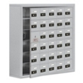 """37""""W x 36.5""""H 29 Door Cell Phone Locker with Combo Lock and Access Panel, 36480"""