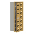 """17.5""""W x 42""""H 13 Door Cell Phone Locker with Combo Lock and Access Panel, 36481"""