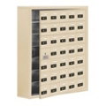 """37""""W x 42""""H 34 Door Cell Phone Locker with Combo Lock and Access Panel, 36484"""
