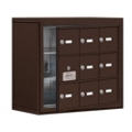 """24""""W x 20""""H 8 Door Cell Phone Locker with Key Lock and Access Panel, 36486"""