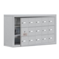 """37""""W x 20""""H 14 Door Cell Phone Locker with Key Lock and Access Panel, 36488"""
